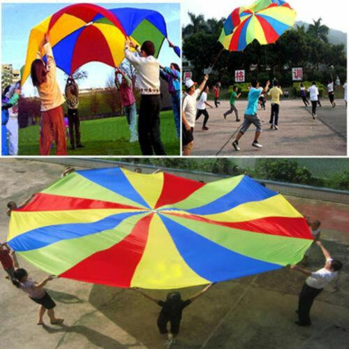 Bunt Schwungtuch Fallschirm Schwungtücher Kinder Garten Spielzeug+Ozean Ball 385