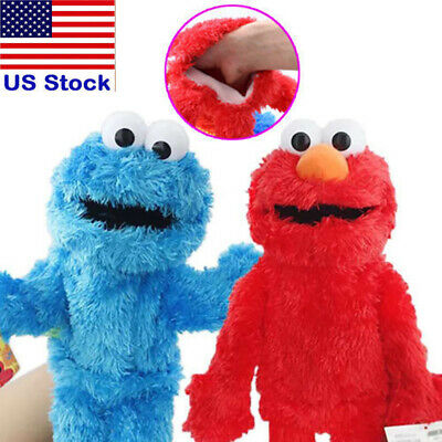 Sesame Street Plush Stuffed Animal Elmo Cookie Monster Hand Puppet Kids Toy US