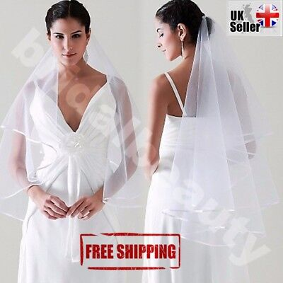 Halloween White Wedding Veil Bride to Be Hen Night Party Fancy Dress Costume (Bride To Be Halloween Costume)