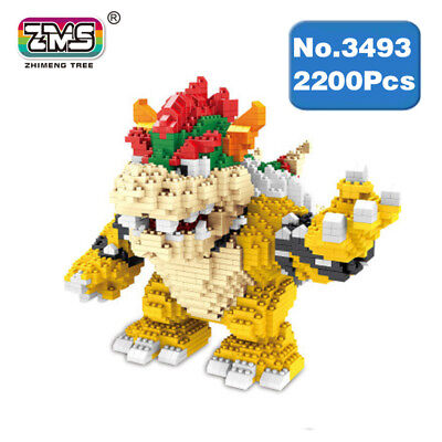 Microblock Bowser Monster Anime Bausteine Building Nano Toy Game Super Plumbers