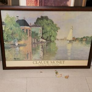 42 x 28 in Framed Monet Print