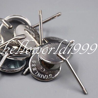 50 Pcs Dental Orthodontic Stainless Steel Mouth Mirrors 4 Plain Mirror 20mm