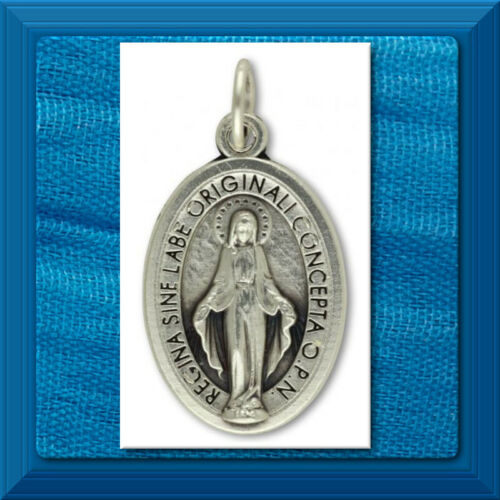 """Catholic Medal 1"""" LATIN Miraculous Medal Mary Blessed Mother Made in ITALY ME1a"""