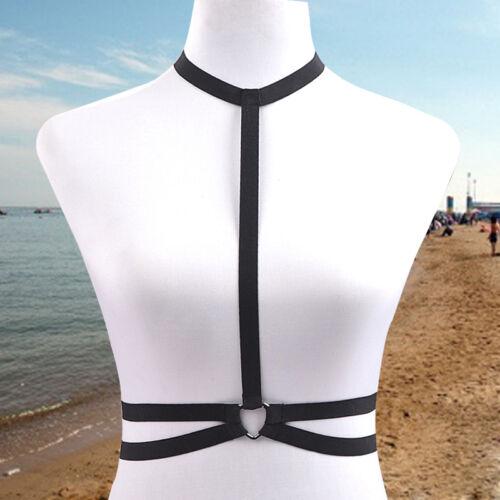 Sex-Women-Black-Pentagram-Body-Harness-Handmade-Fashion-90s-Dress-o0221