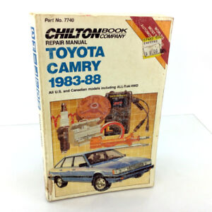 Chilton 7740 Repair Manual 1983-1988 Toyota Camry All Model Tune