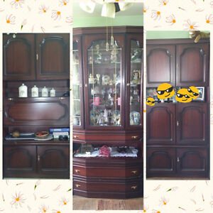 European 3 PC red wood Cabinets