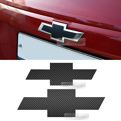 Front Rear Black Carbon Emblem Badge Decal Sticker For CHEVROLET 2013-2017 Trax