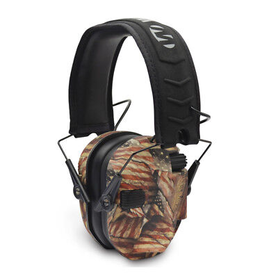 Walkers Razor Slim Low Profile Electronic Earmuffs American Flag 02143