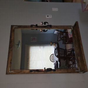 Hand made rustic mirror