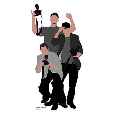 PAPARAZZI Red Carpet Photographers CARDBOARD CUTOUT Standee Standup Poster Prop - Paparazzi Cut Out