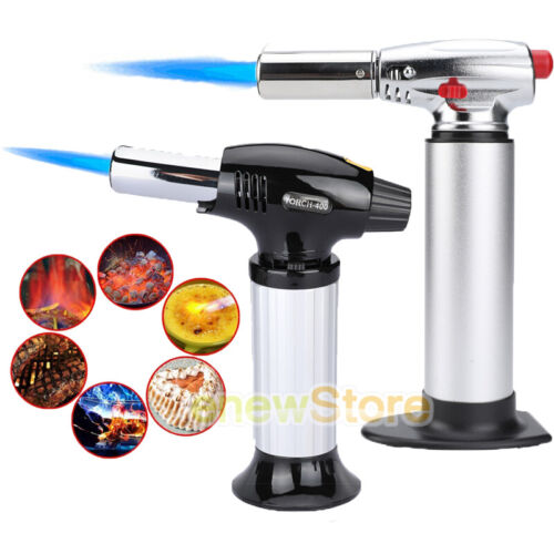 Torch Butane Lighter Culinary Kitchen Cooking Chef Fuel Gaug