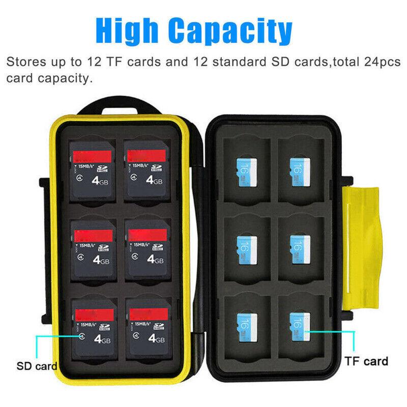 SD / Micro SD Memory Card Case Waterproof Storage Bag Wallet Case
