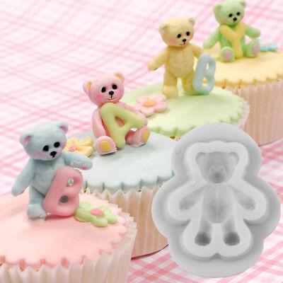 Baby Teddy Bear Cake Decor Silicone Fondant Mould Gumpaste Chocolate Sugarcraft