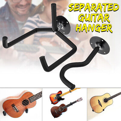 2PCS Horizontal Separated Guitar Holder Wall Mount Hanger+Acoustic Guitar  ()