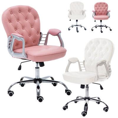 Leder Computer Schreibtisch Stuhl (Mode Bürostuhl Kinder Computer Schreibtisch Gepolsterter Sitz Samt/Leder mit Rad)