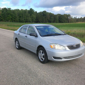 2005 Toyota Corolla certified, clean, new brakes, no rust