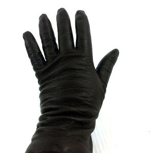 Cashmere Lined Soft Brown Italian Leather Gloves Vintage Italy