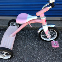 Pink/White Radio Flyer Tri-Cycle-SHOWROOM CONDITION-VINTAGE