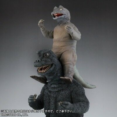 X-PLUS RIC TOY TOHO 30cm Series Godzilla 1967 & Minya x 2 Figure Doll ric-toy