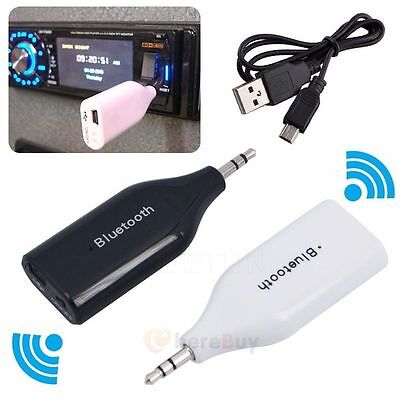 3.5mm Bluetooth 4.2 AUX Car Receiver Speaker Music Streaming Audio Adapter Mic