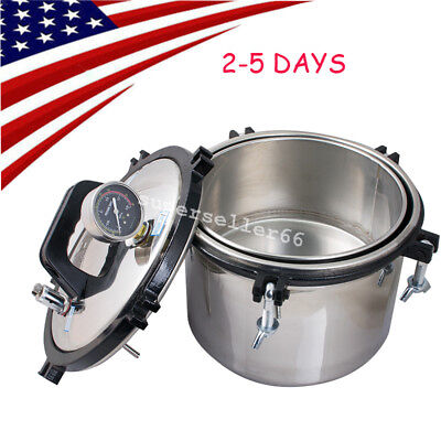 8l Dental Steam Autoclave Sterilizer Full Stainless Sterilization High Pressure