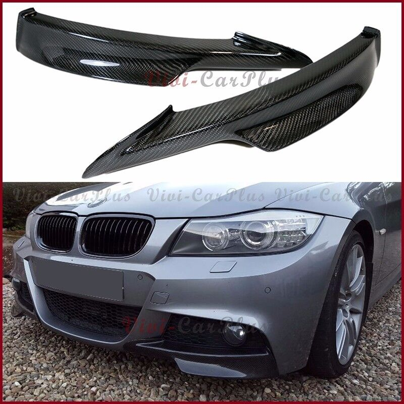 For 09-11 BMW E90 E91 M-Tech Real Carbon Fiber Front Bumper Splitter Spoiler Lip