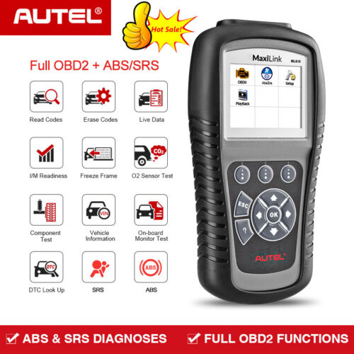 Autel ML619 OBD2 CAN OBD Auto Diagnostic Scanner tool Code Reader SRS ABS AirBag