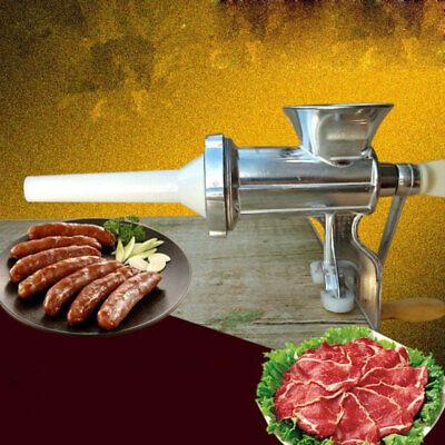 Manuelle Fleischwolf & Wurstmaschine Wurstfüller Pasta Handkurbel Füllmaschine (Fleisch Fleischwolf Maschine)