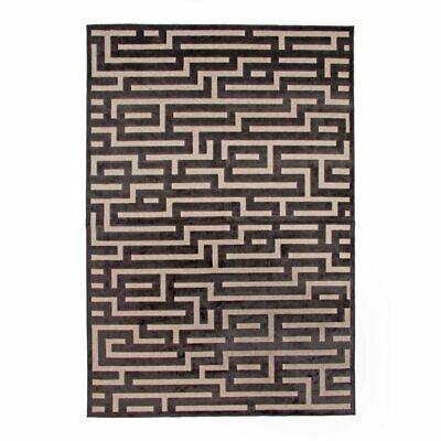 Abacasa Napa Maze Charcoal-Beige 5x8 Area Rug
