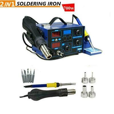 2 In 1 Smd Soldering Iron Hot Air Heat Gun Rework Station Digital Display 700w