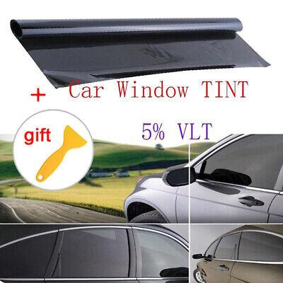 VLT 5% Uncut Roll 39.4*19.7inch Window Tint Film Charcoal Black Car Glass Office