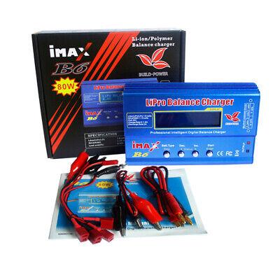 iMAX B6 80W RC Battery Charger Lipo NiMh Battery Balance LCD Charger Adapter UK