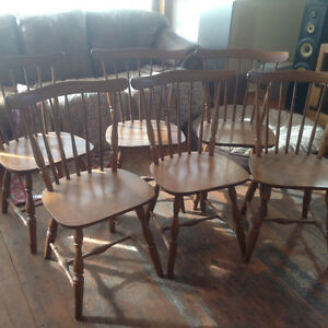 VILAS SOLID MAPLE DINING CHAIRS (6)