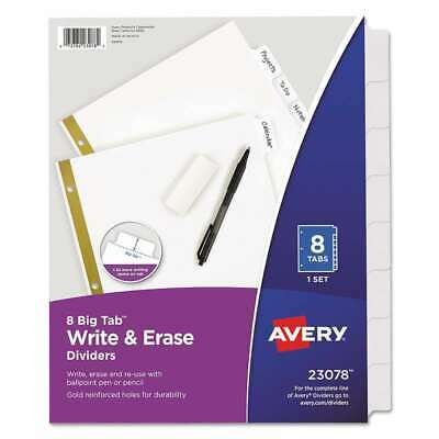 Avery Write Erase Big Tab Paper Dividers 8-tab Letter 072782230784