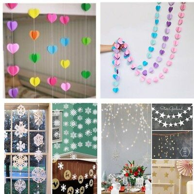 1X Bunting Banner Hanging Flag Wedding Birthday Party Baby Shower Garland Decor