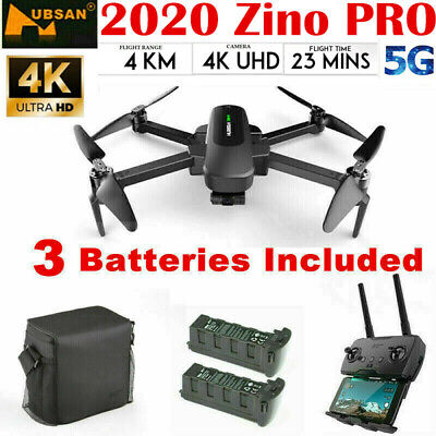 Hubsan Zino PRO FPV APP 5G Drone Quadcopter Foldable +4K Camera+3Gimbal+3Battery