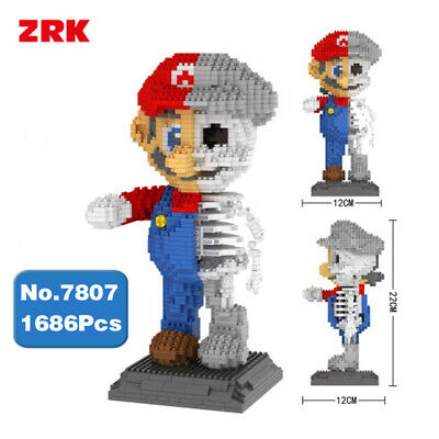 Super Mario Dissektion Skelett Mini Modell Gebäude 1686PCS (Kind Skelett)