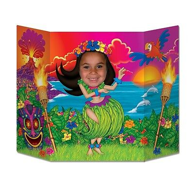 Hula Girl Photo Prop - Hawaiian Luau Party Cutouts & Standins Decorations - Hawaiian Photo Cutouts