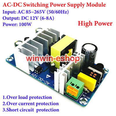 High Power Acdc Isolated Switching Step Down Module Ac 110v 220v To Dc 12v 8a