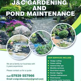 J&C gardening and pond maintenance 07939557966