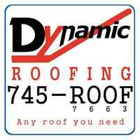 Dynamic Roofing 745-ROOF Any Roof You Need.