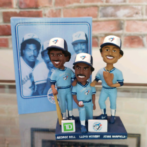 1985 Moesby Bell Barfied Outfield Trio Bobblehead Set
