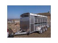 12x6 & 14x6 indespension cattle livestock trailers - sheep decks - slurry tank - led light
