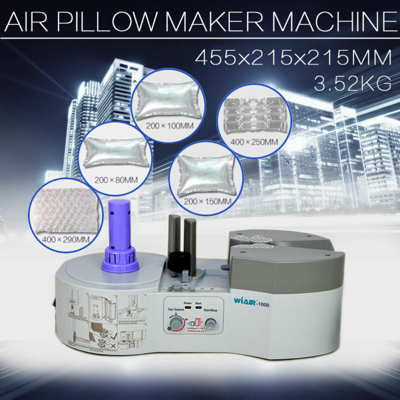 USED Air Pillow Cushion Bubble Wrap Maker Wi-1000 Machine Without-Bubble-film