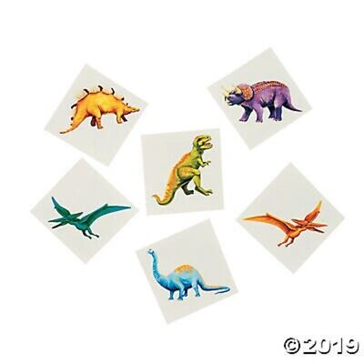 72 Dinosaur Prehistoric Temporary Tattoos Kids Birthday Party Favors ](Prehistoric Dinosaur Party Supplies)