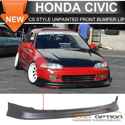 Fits 92-95 Honda Civic EG 2/3Dr CS Front Bumper Lip Spoiler PU