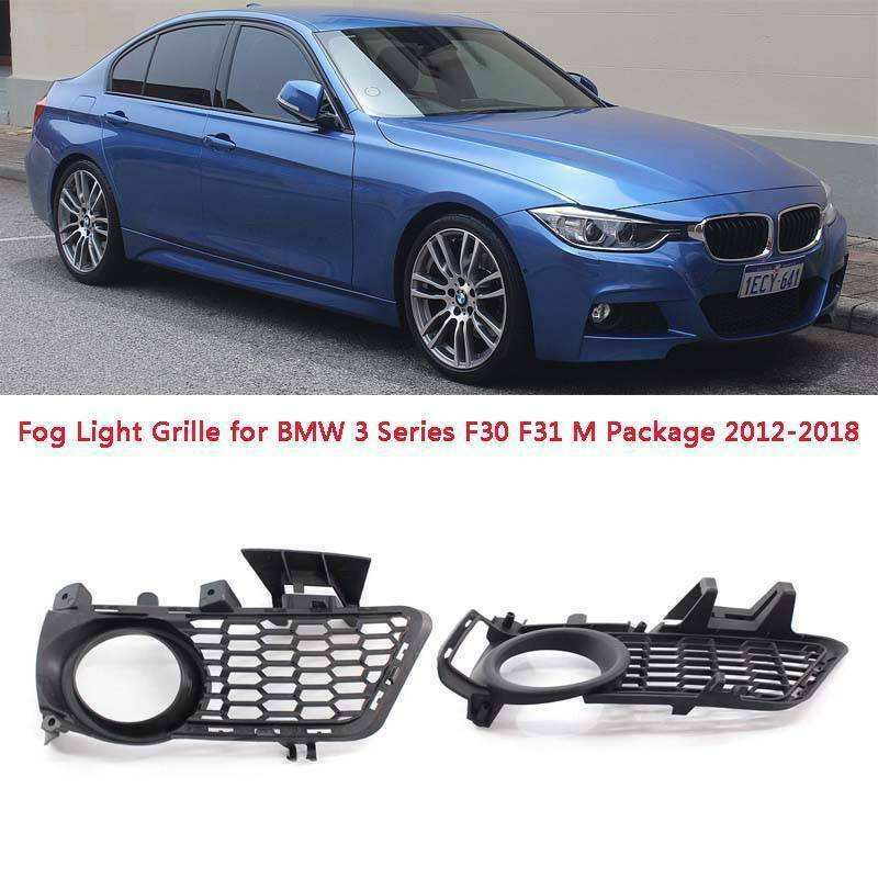 Fit for BMW 3 SERIES F30 M SPORT PACKAGE PAIR BUMPER FOG LIGHT GRILLE 2012-2018