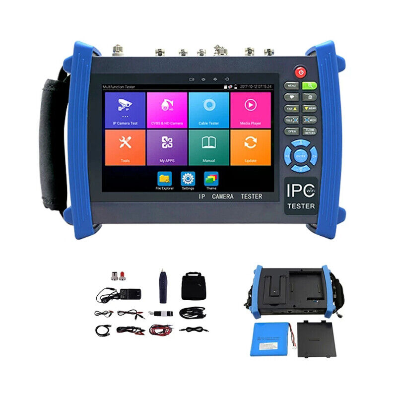 """7"""" Android system CCTV Tester with WIFI Browser POE cable test etc for IPC-8600"""