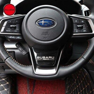 For Subaru XV Crosstrek 2018 Stainless Steel Steering Wheel Trims Accessories., used for sale  Port Orchard