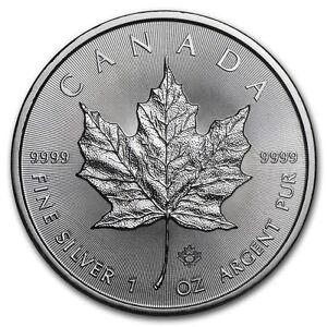 1 oz 2016 Canadian Maple Leaf $5 Silver Coin 9999